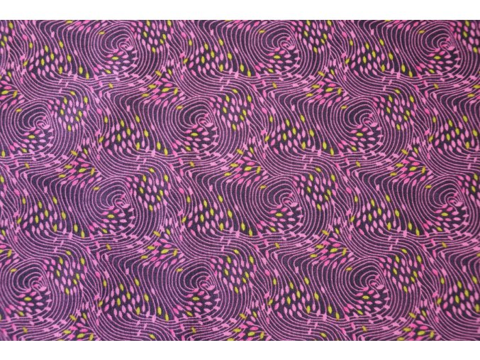 Látka Filippa´s line fialová vlny