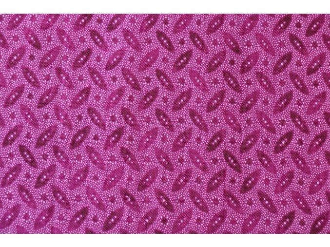 Látka Filippa´s line lístky fialová
