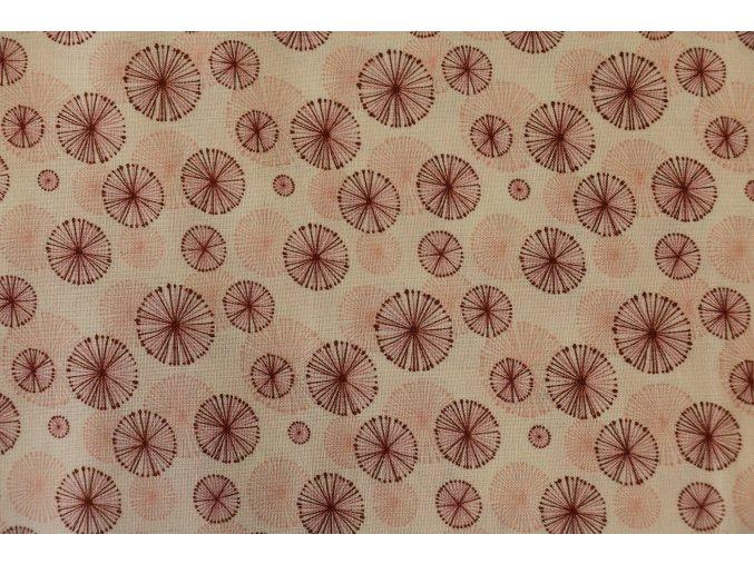 Látka Filippa´s line kolečka růžová