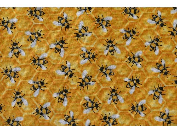 Látka Show me the honey včeličky