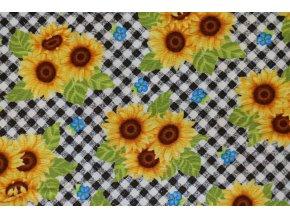 Látka Sunny Sunflowers slunečnice