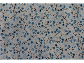 Látka Filippa´s line květy modrá