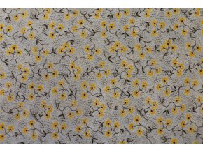 Látka Filippa´s line květy žlutá