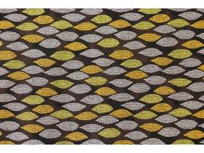 Látka Filippa´s line listy hnědožlutá