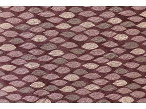 Látka Filippa´s line listy fialová