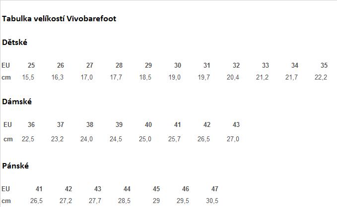Vivobarefoot_velikosti