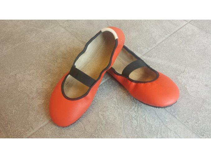 Baleríny Amelíny s páskem oranžové