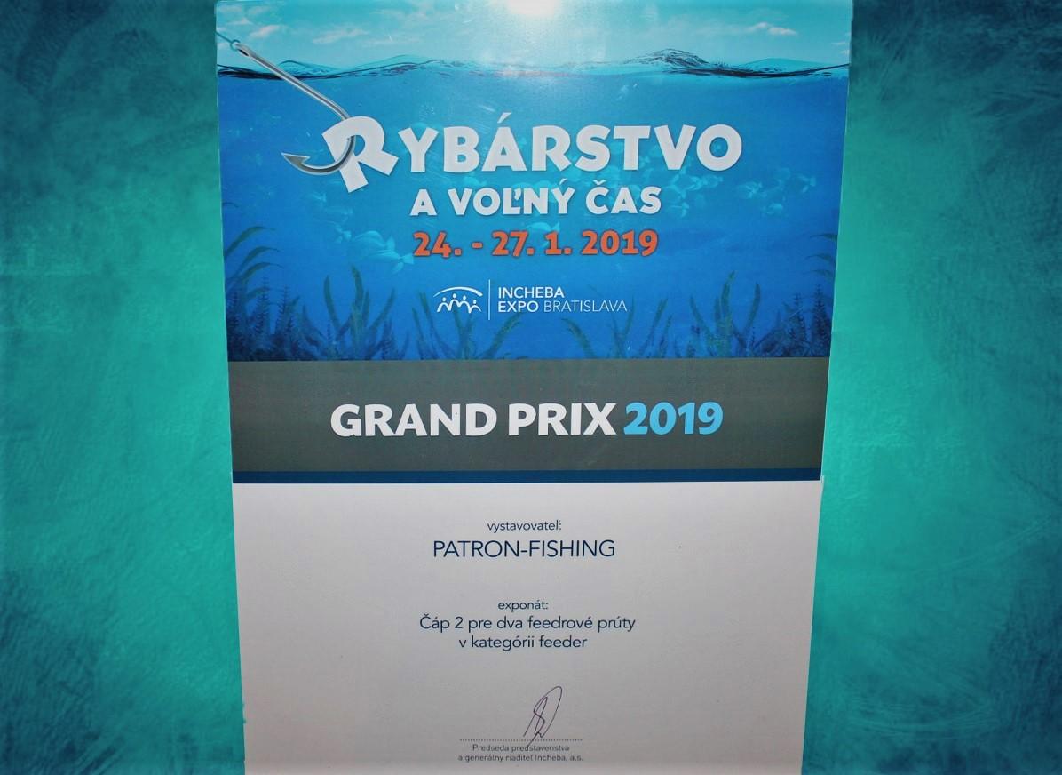 Grand Prix 1.místo za feederový stojan Čáp 2