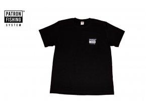 Rybářské triko patron fishing logo černé