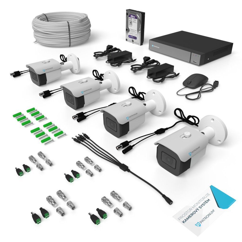AHD kamerový systém BULLET s IR do 30m KONFIGUR