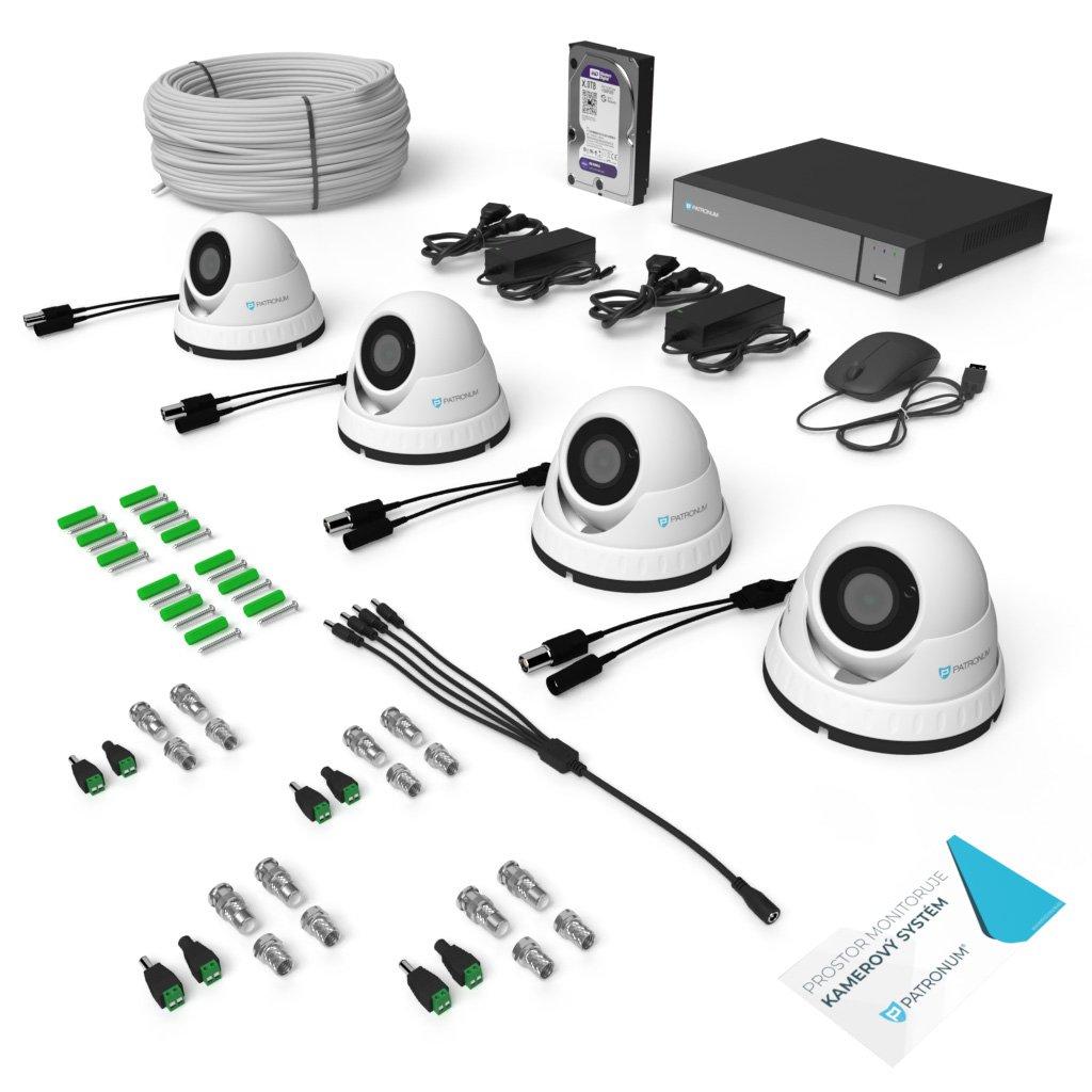 AHD kamerový systém DOME s IR do 30m KONFIGUR