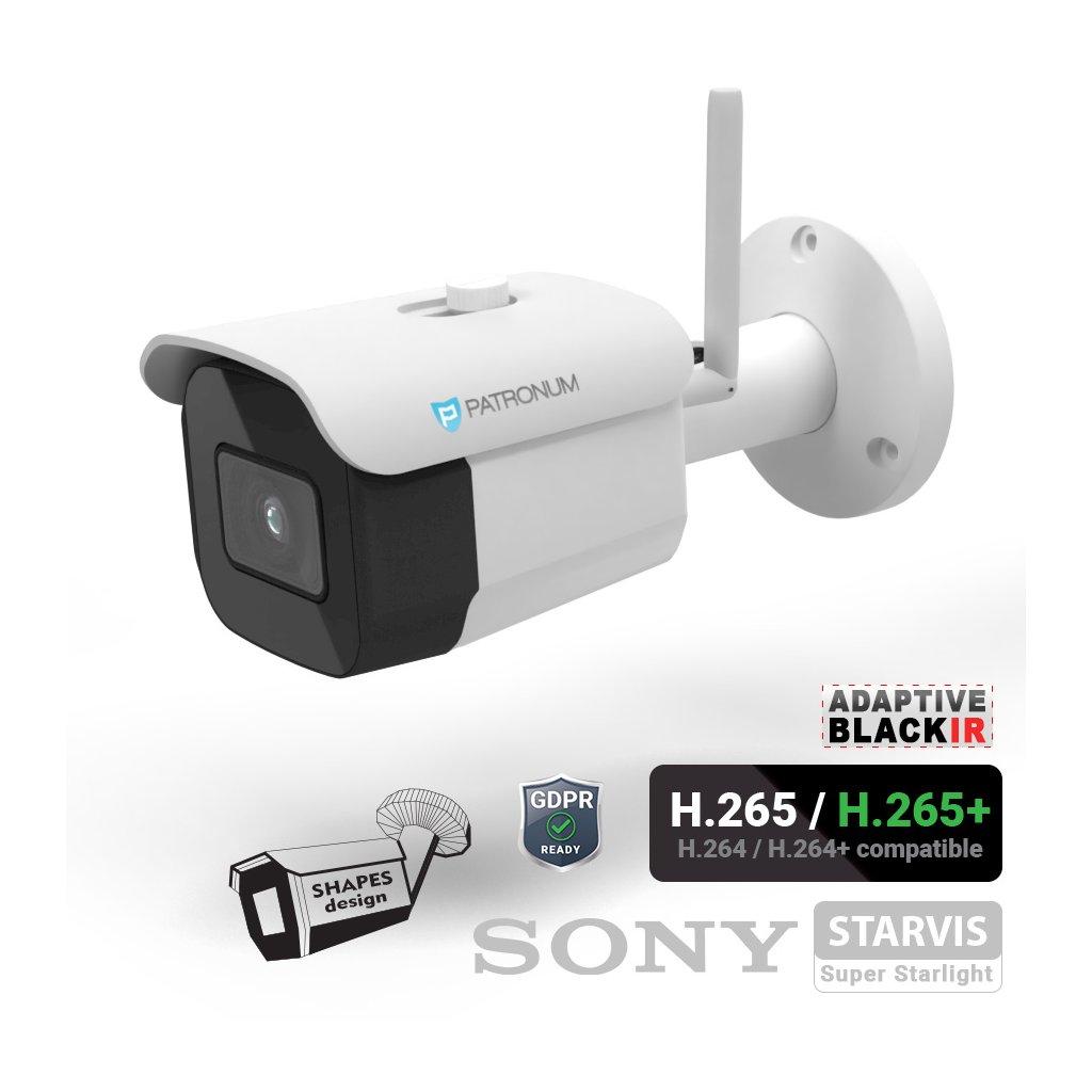 2.0Mpx IP bezpečnostní kamera PATRONUM PR-B30IPWT20FWIFIV1