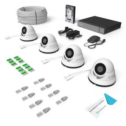 IP kamerový systém DOME s IR do 40m KONFIGUR