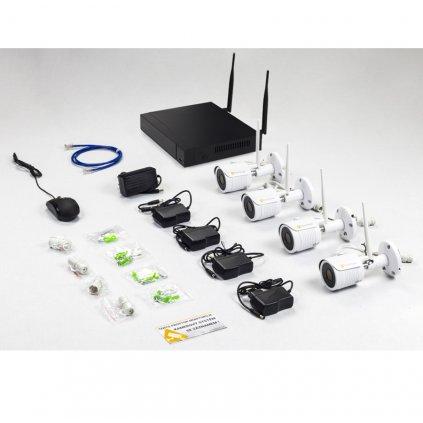 2.0Mpx IP WIFI kamerový systém 4xBULLET s IR 25m