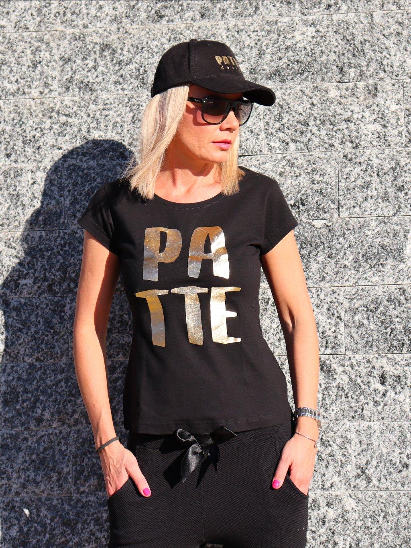 Tričko Patte Adi, černo zlaté