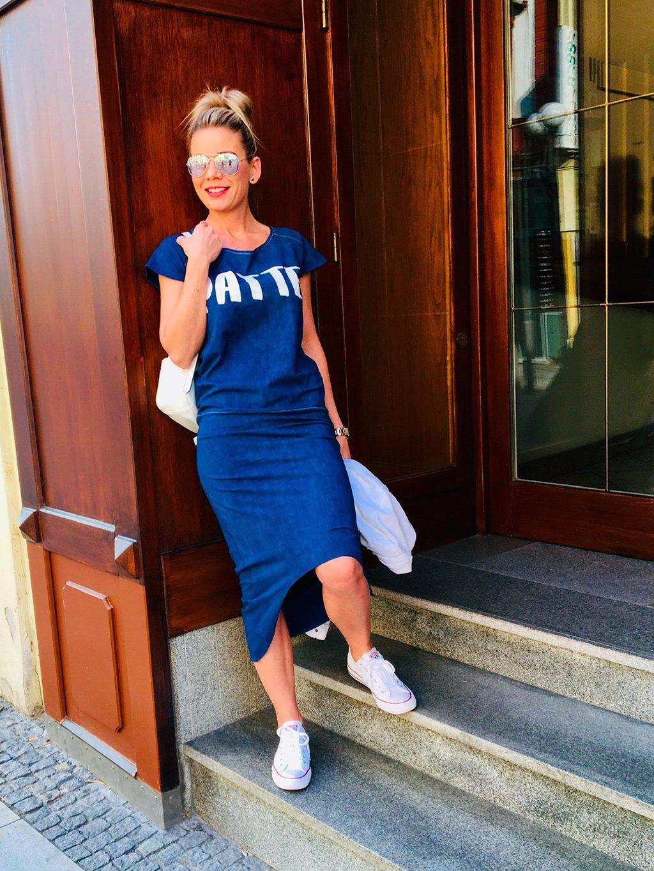 Teplákové šaty Kora, jeans