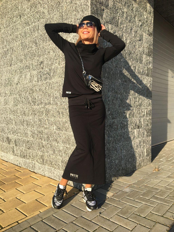Dámská exkluzivní tepláková sukně Patte Black