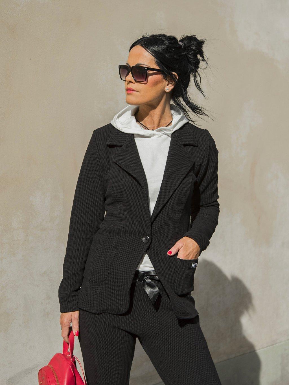 Exklusivní dámské sako Patte Shape, černé