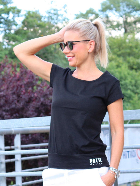 Tričko Patte Airy, černé