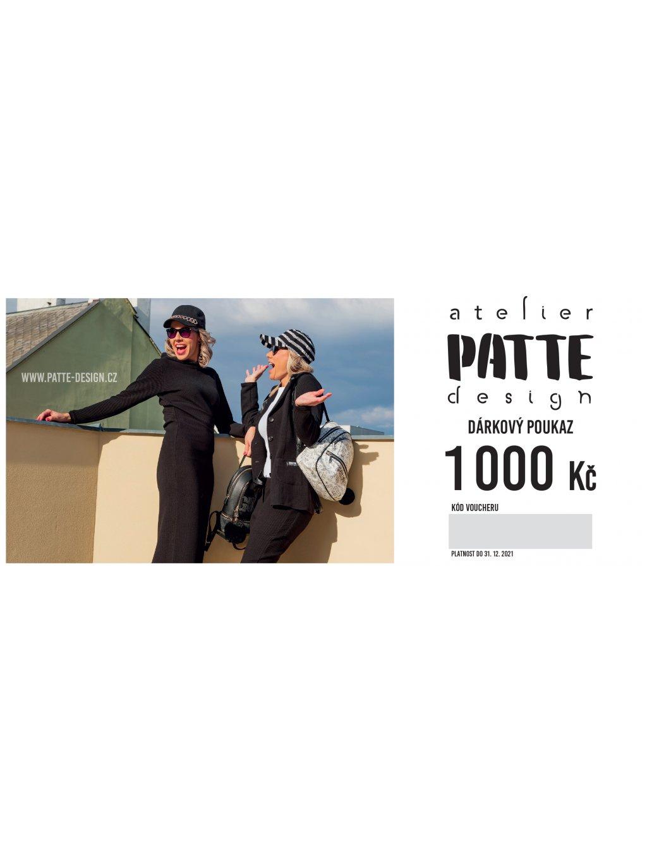 PATTE design Voucher 210x90 bez spadu 1000 1