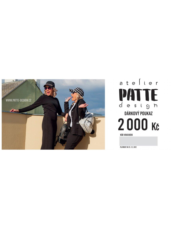 PATTE design Voucher 210x90 bez spadu 1000 3