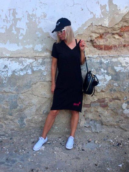 Černé rovné šaty Tara