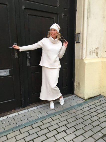 Dámská exkluzivní tepláková sukně Patte Gold, smetanová
