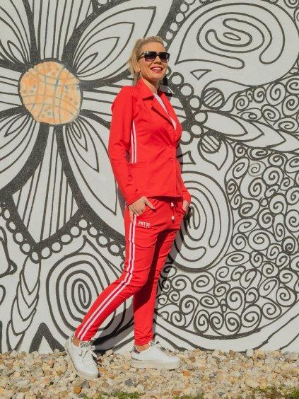 Dámské stylové teplákové sako Patte Line, červené