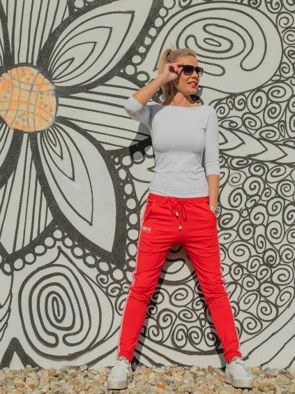 Dámské stylové tepláky Patte Line, červené