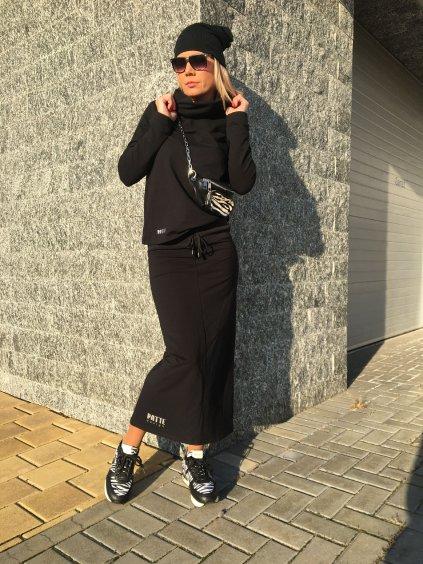 Exkluzivní souprava, sukně, mikina a čepice Patte Gold, černá