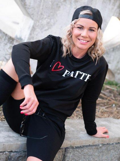 Dámská mikina I love Patte, černá