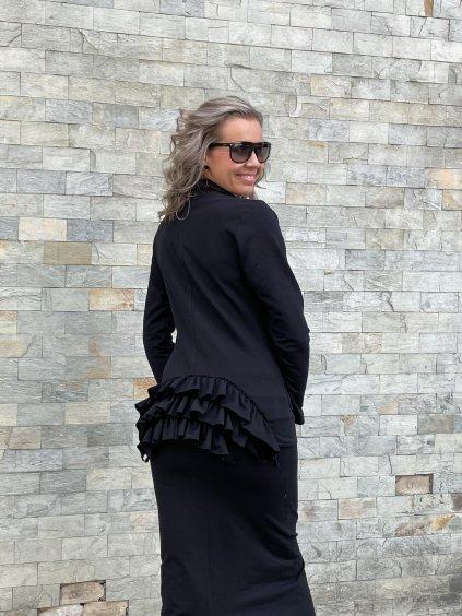 Dámské sako s volánky Patte Next, černé