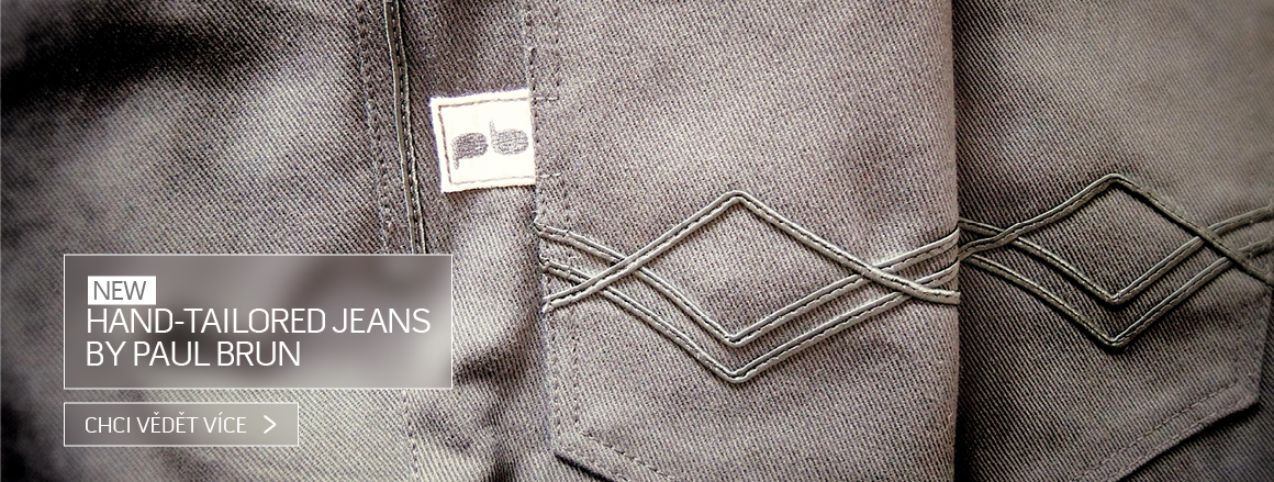 Hand-tailored jeans by Paul Brun