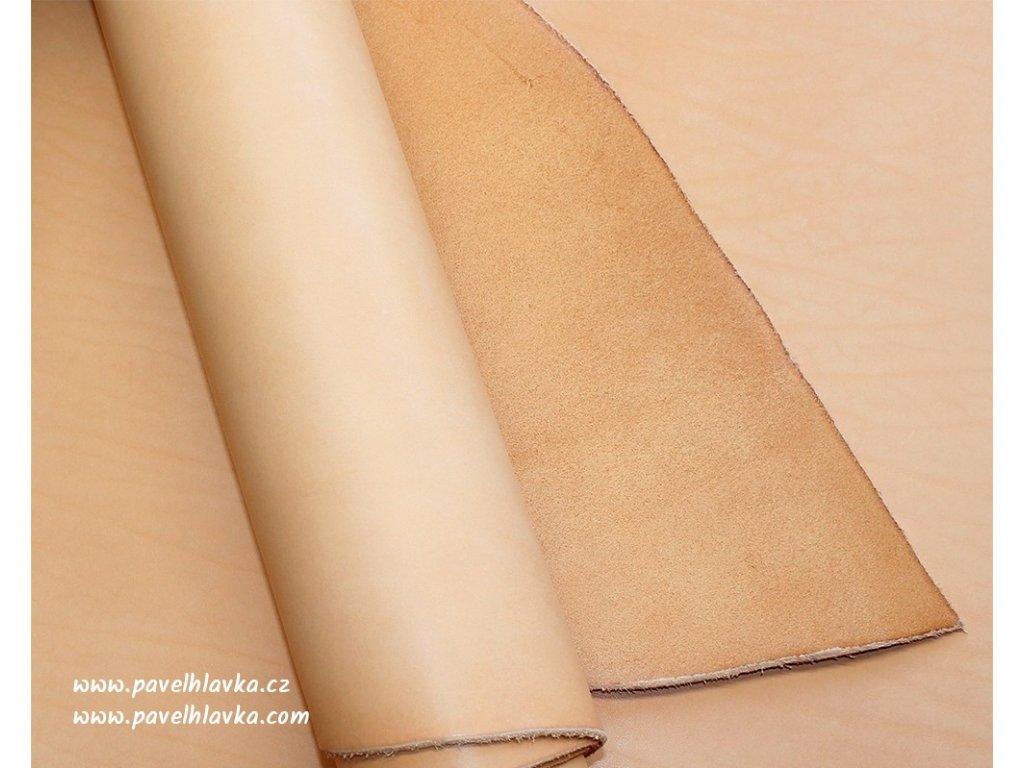 Ručně šitý kožený řemínek pásek pro hodinky apple watch walpi přírodní