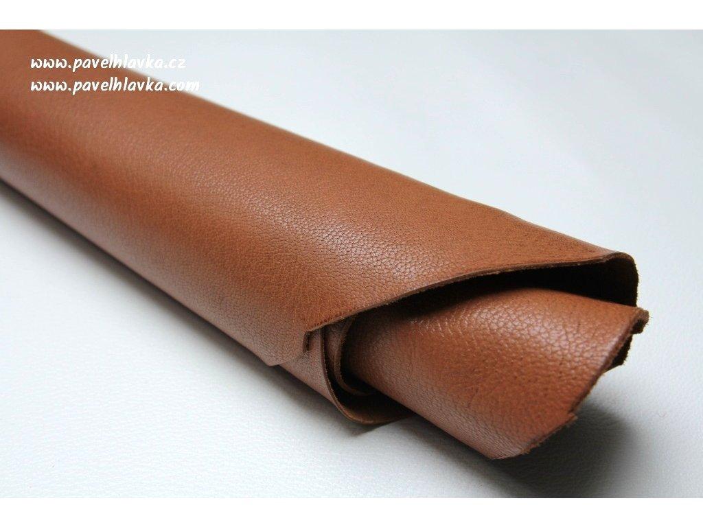 Ručně šitý kožený řemínek - pásek pro hodinky Apple Watch - ruční výroba Chevre gold