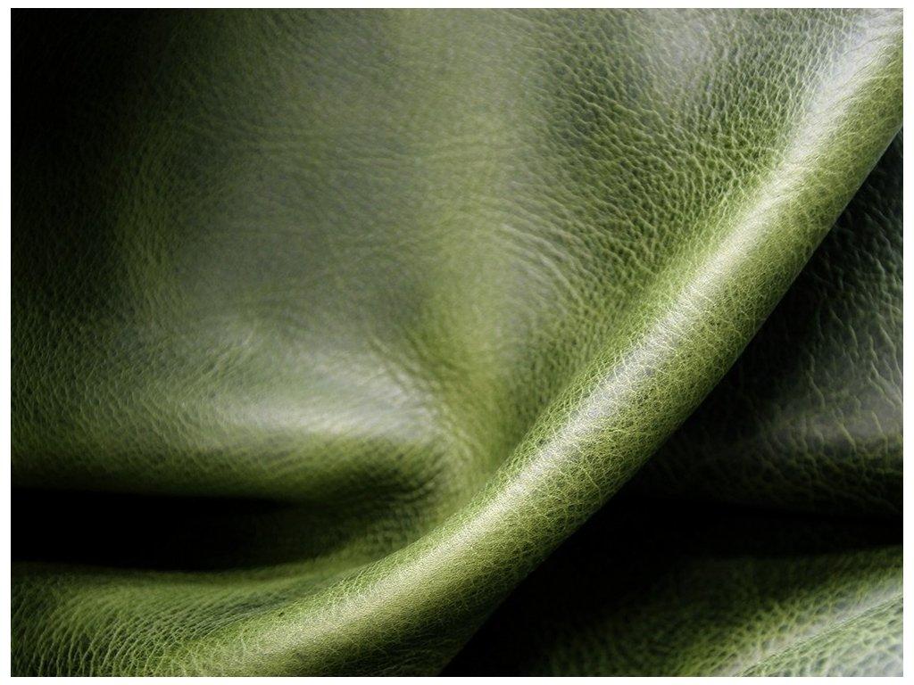 Kožený řemínek na hodinky apple watch z přírodní pull-up kůže zelená