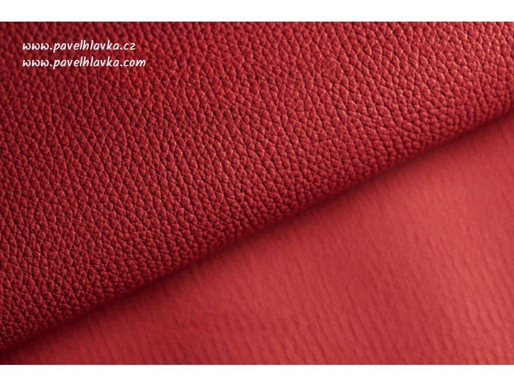 Ručně šitý kožený řemínek - pásek pro hodinky Apple Watch - ruční výroba Epsom červený