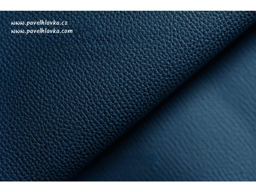 Ručně šitý kožený řemínek - pásek pro hodinky Apple Watch - ruční výroba Epsom modrý
