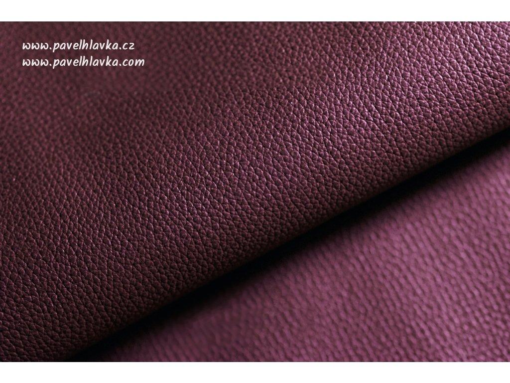 Ručně šitý kožený řemínek - pásek pro hodinky Apple Watch - ruční výroba Epsom bordo