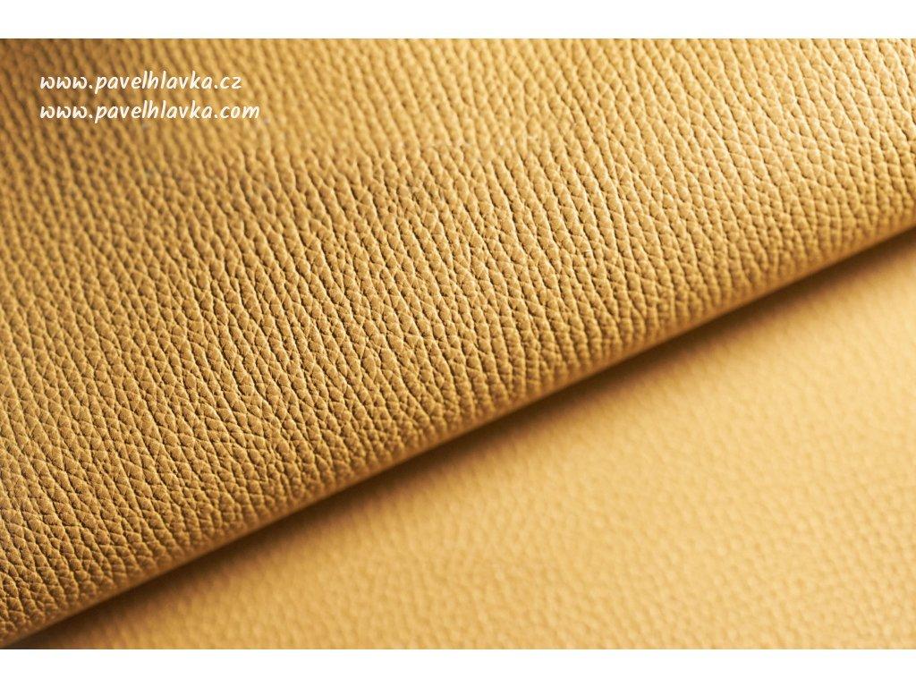 Ručně šitý kožený řemínek - pásek pro hodinky Apple Watch - ruční výroba Epsom žlutý