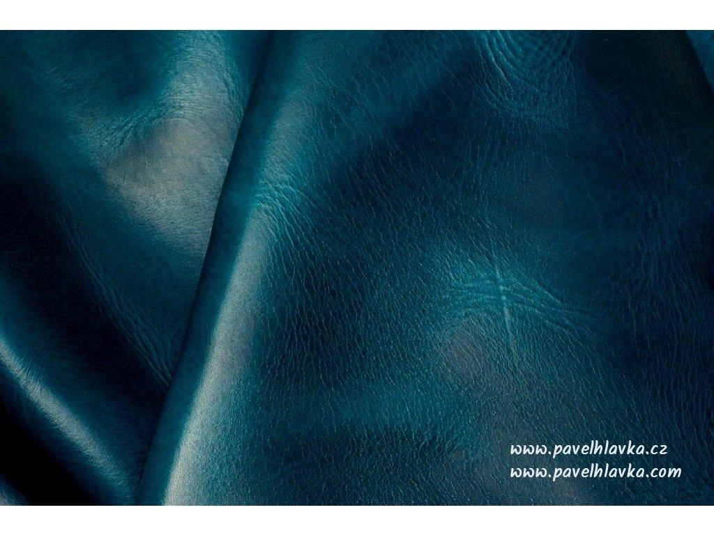 Ručně šitý kožený řemínek pásek pro hodinky apple watch WAX modrý