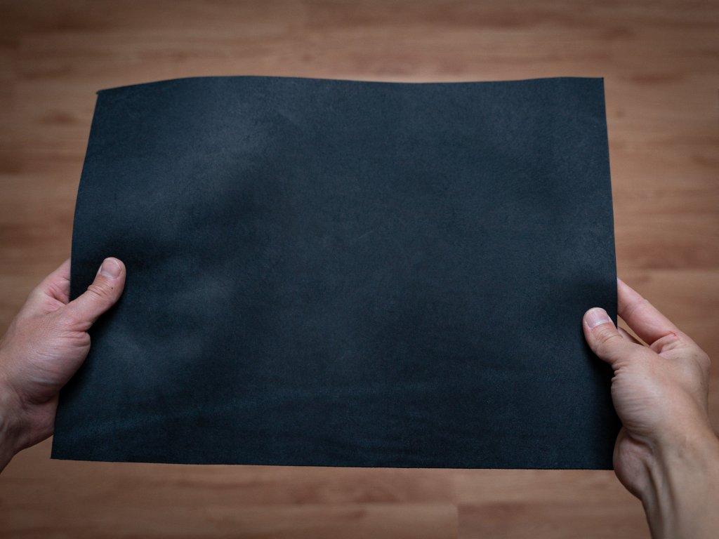 Ručně šitý kožený řemínek pásek apple watch ruční práce na zakázku Pueblo navy