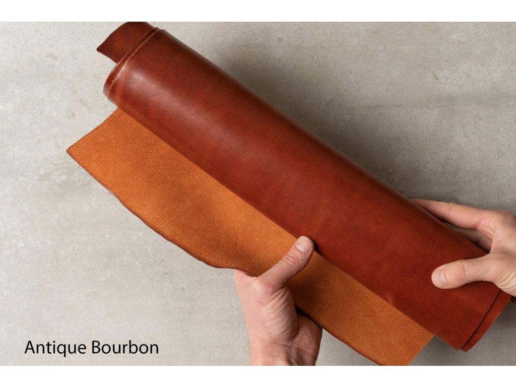 Ručně šitý kožený řemínek pásek pro hodinky apple watch antik bourbon