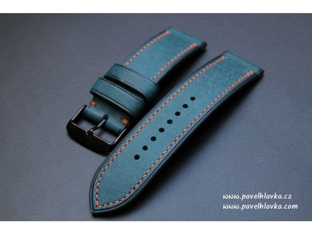 Ručně šitý kožený řemínek pásek pro klasické hodinky Pueblo