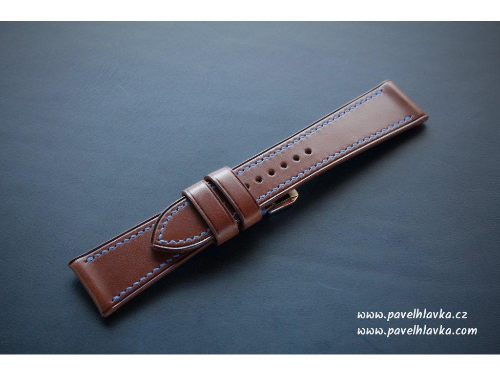 Ručně šitý kožený řemínek pásek pro hodinky apple watch walpi whiskey
