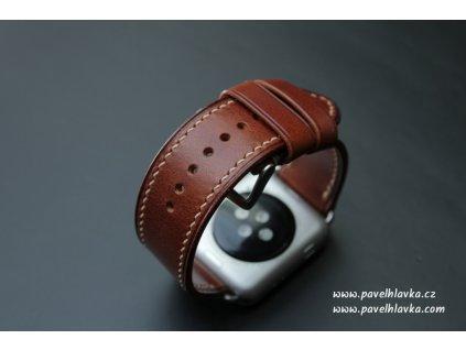 kožený řemínek na hodinky apple watch z přírodní kůže hnědý