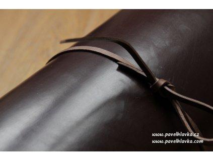 Kožený řemínek na hodinky apple watch z přírodní kůže english bridle tmavě hnědý