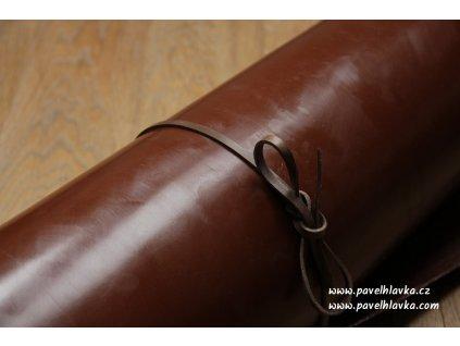 Kožený řemínek na hodinky apple watch z přírodní kůže english bridle hnědý