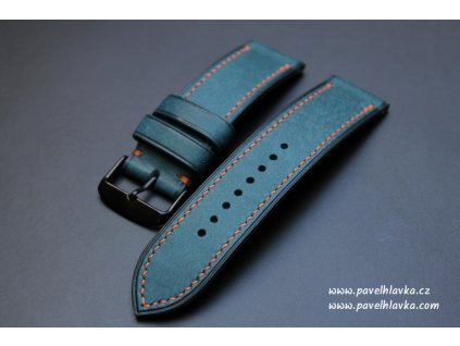 Ručně šitý kožený řemínek pásek Xiaomi Amazfit Pueblo