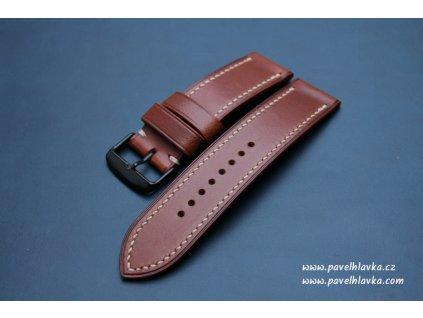 Ručně šitý kožený řemínek pásek Garmin Fenix 5 6 walpi